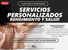 SERVICIOS PERSONALIZADOS PARA EL RENDIMIENTO Y LA SALUD