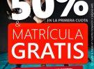 PROMO 50% DTO. +  MATRÍCULA GRATIS