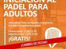 MASTERCLASS INICIACIÓN AL PÁDEL ADULTOS 17/03/18