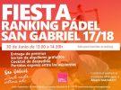 FIESTA CLAUSURA RANKING PÁDEL 2017-18 30/06/2018