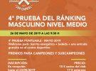 4ª Prueba del Ranking de Padel Masculino – 26/05/2019