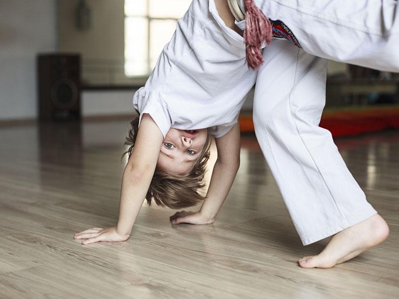 Capoeira para niños en Madrid.