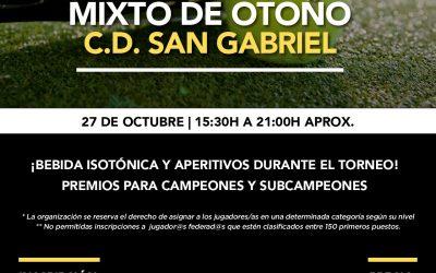 Torneo Pádel Mixto de Otoño en San Gabriel