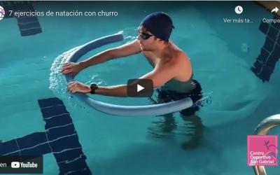 7 ejercicios de natación con churro